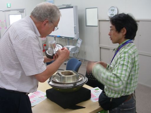 Inspecting a model of the Hayabusa sample return capsule