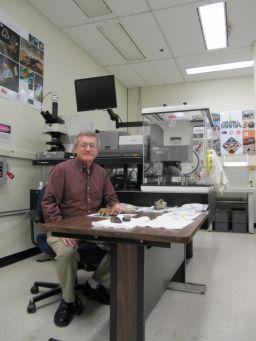 Dick Morris in his lab at JSC