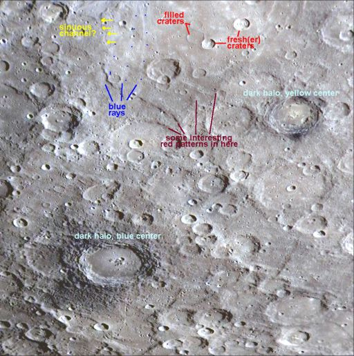 Some interesting things in a MESSENGER image of Mercury
