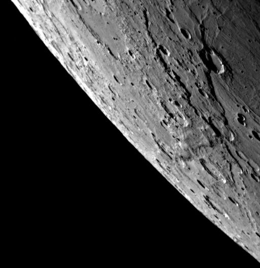 View across Mercury's limb