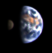 The Earth and Moon, from Deep Impact