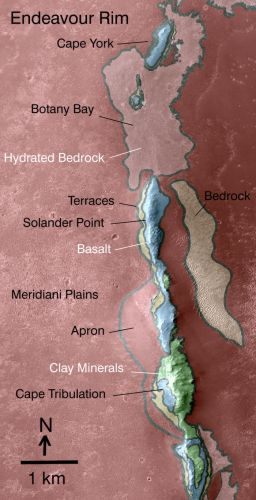 Endeavour west rim map