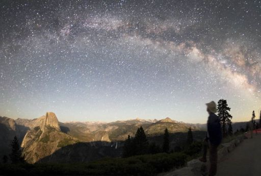 The Milky Way over Glacier Point, Yosemite National Park