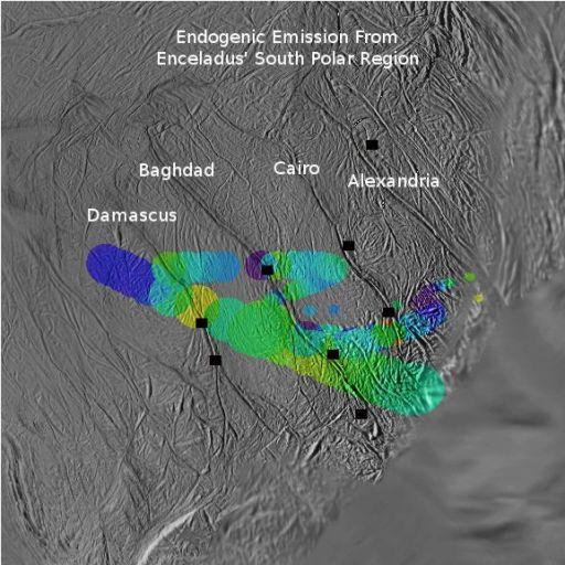 CIRS Detects Warm Emissions