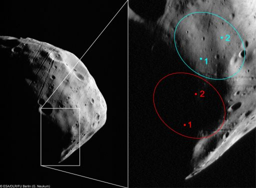 Mars Express maps the Phobos Grunt landing site
