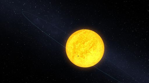 Planet Kepler-10b Transiting Its Host Star (Artist's Depiction)