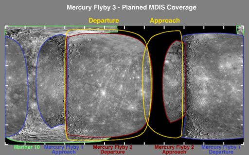 Imaging of Mercury during MESSENGER's third flyby