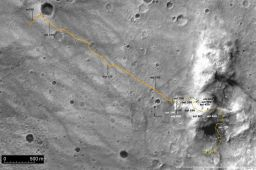 Spirit traverse map from Sol 1 to Sol 742