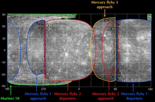 Map of Mercury after MESSENGER's third flyby