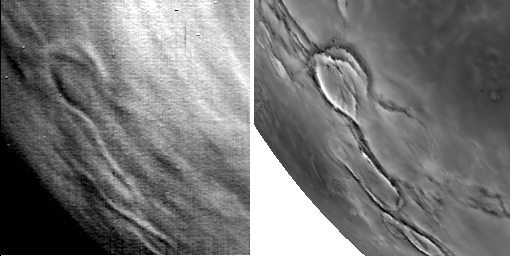 Venus Express views Venus' surface