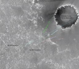 Beagle Crater on Opportunity's horizon