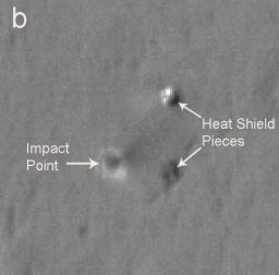 Opportunity's heat shield as seen by HiRISE