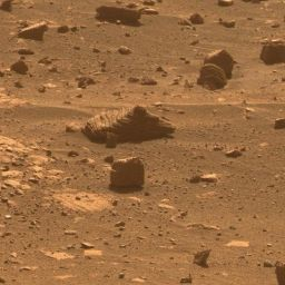 Opportunity's first self-chosen rock