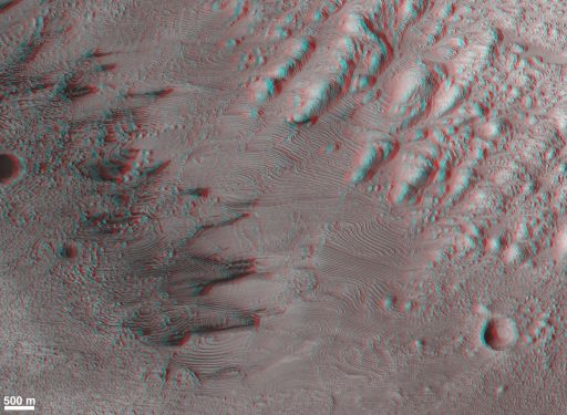 Layered Rocks in Danielson Crater