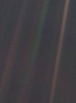 The Pale Blue Dot of Earth