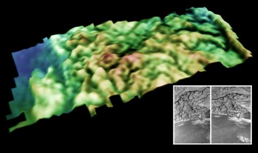 Topographic model of dissected terrain on Titan