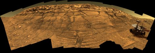 Opportunity panorama: 'Burns Cliff,' sols 287-294 (simulated)