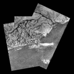 Titan river channel mosaic
