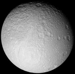 Highest-resolution global mosaic of Tethys