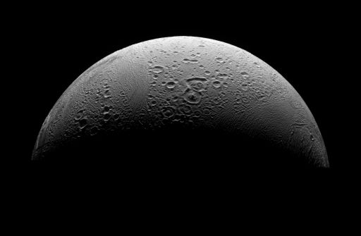 Enceladus' north pole