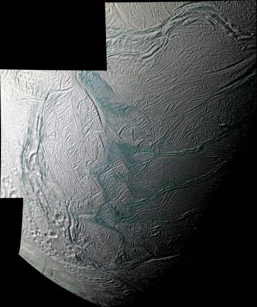 Mosaic of Enceladus' southern hemisphere