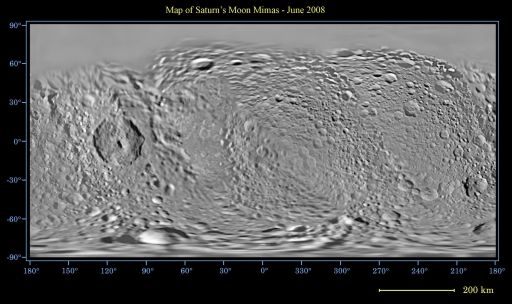 Map of Mimas - June 2008