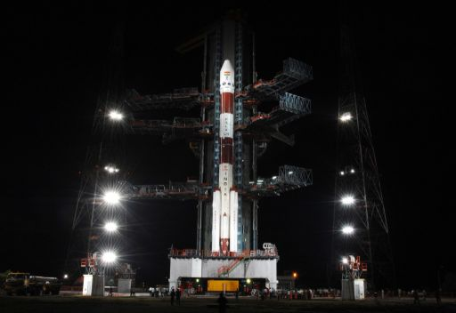 Chandrayaan-1 on the launch pad