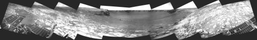 Opportunity panorama, sol 1,314