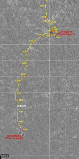 Opportunity recent route