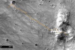 Spirit traverse map from Sol 1 to Sol 680