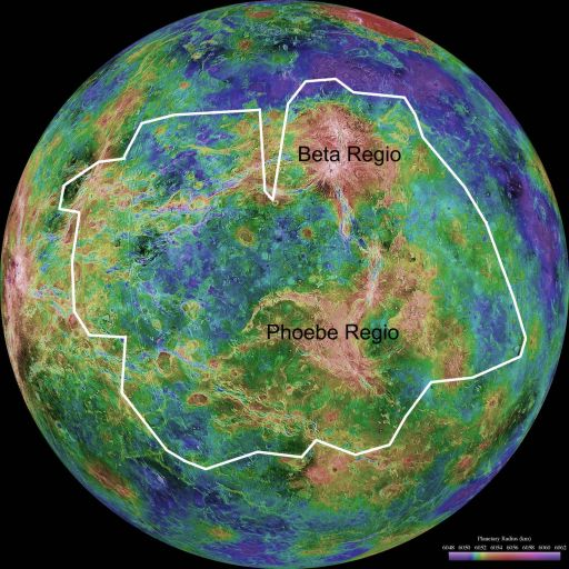 Context map for Venus Express VMC surface image