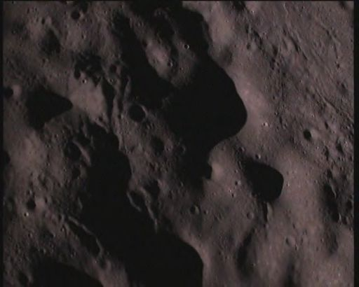 Image from the Chandrayaan-1 Moon Impact Probe