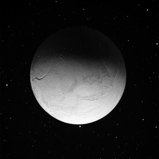 Enceladus in eclipse