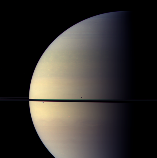 Saturn just after equinox