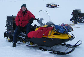 Joe and his snowmobile
