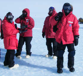 Different styles of Antarctic dress.