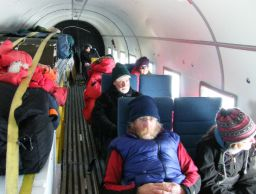 The ANSMET team on its way back to McMurdo
