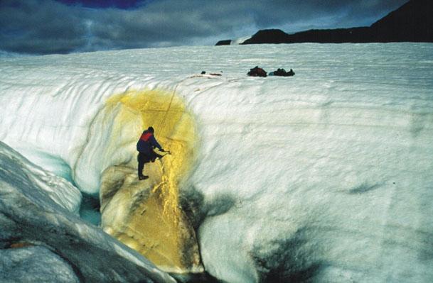 Stephen Grasby Samples Sulfur Spring Discharge