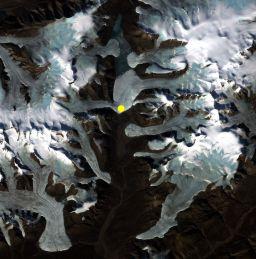 Satellite image of Borup Fiord Pass, Ellesmere Island,                   Canada