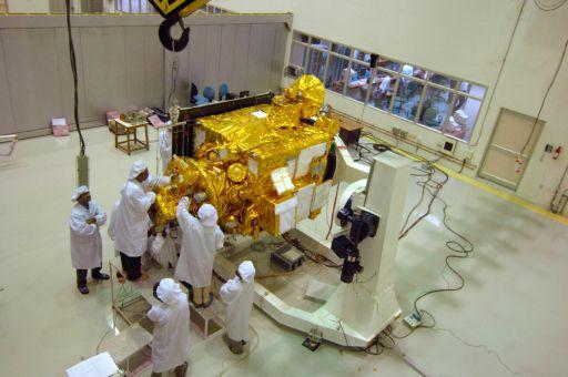 Chandrayaan-1 undergoing prelaunch testing