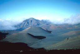 Cinder cones on the flank of the Haleakala volcano, Maui