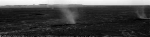 Dust devils in Gusev crater, sol 568