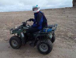 Emily on her ATV