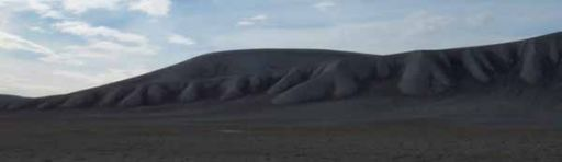 Undulating hills inside Haughton Crater, Devon