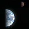 Earth and the Moon from Galileo