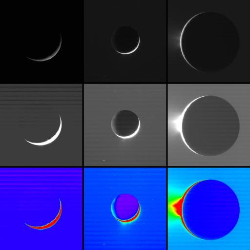 High-phase observations of Enceladus