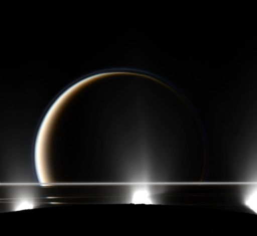 Peering through the fountains of Enceladus