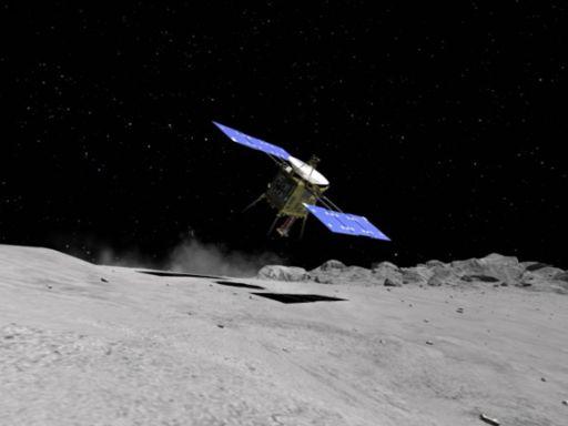 Hayabusa's first landing