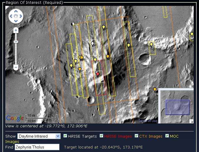 Zephyria Tholus, Mars