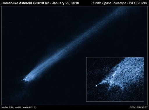 Hubble views the aftermath of an asteroid collision
